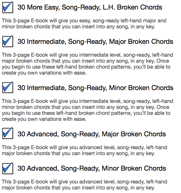 How To Master Major And Minor Blocked And Broken Chords
