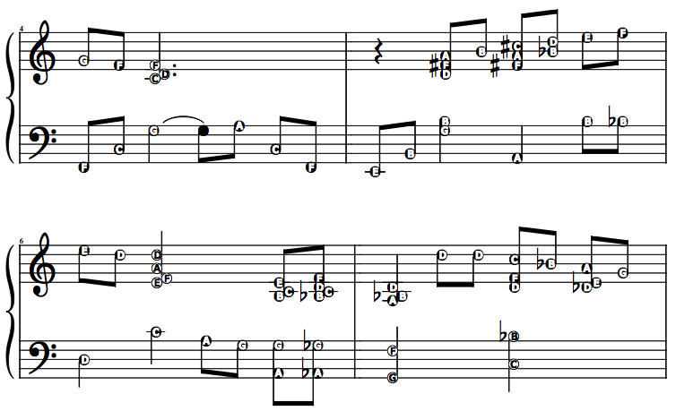how to read piano sheet one hash
