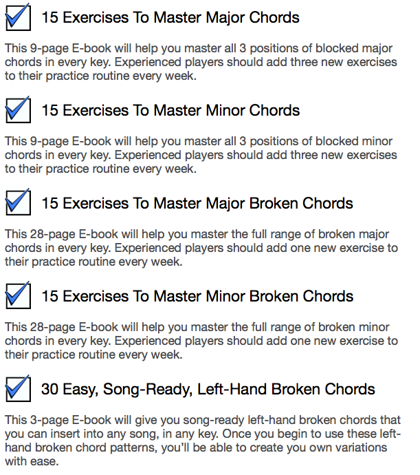 How To Master Major and Minor Blocked and Broken Chords.